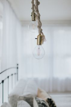 DIY macrame lighting