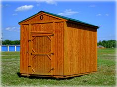 Utility Shed-  Sturdy construction, reliable installation and ample room make this the perfect solution for extra storage or workshop.  Sizes 8 x12 to 16 x 40
