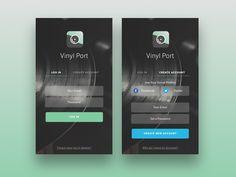 Vinyl Store App - Login & Create Account by Danilo Bittorf