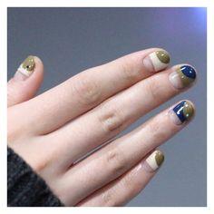 딥한컬러 어디에도 잘어울리는 #카키컬러 #unistella #khaki #navy #spacenails #atumnnails #minimalnails