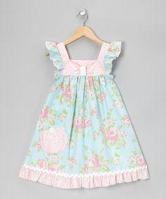 Another great find on #zulily! Pink Romantic Rose Flutter Dress #zulilyfinds