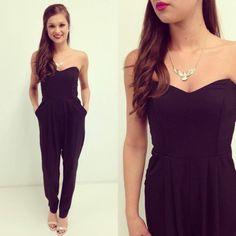 black jumpsuit #swoonboutique