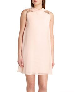 Beaded detail dress - Nude Pink | Dresses | Ted Baker UK - love how you can wear it either way!
