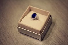 Something blue. I LOVE this ring! I have a really cheap version that is so worn, and a really nice real saphire necklace my fiance got me that I adore #Nordstrom #Wedding #Nordstromweddings