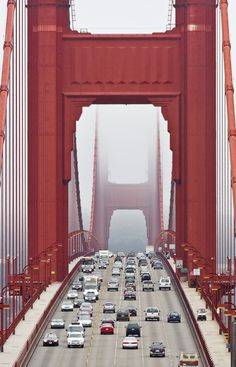 Golden Gate Bridge - Taken from the Vista Point lookout on the Marin side of the bridge looking back towards San Francisco.