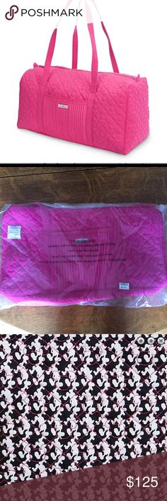 "NWT Vera Bradley Mickey Icon Duffle Bag Brand New With Tags-Exclusively made for Walt Disney World parks/resorts- Quilted microfiber exterior Dimensions 11"" H X 22"" W X 10"" D. Part of the Mickey Mouse Icon Collection by Vera Bradley. Please feel free to ask questions Vera Bradley Bags Travel Bags"