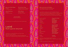 Carton d'invitation Lakmé de Léo Delibes pour l'Opéra Comique à Paris (création : Kanta Desroches)