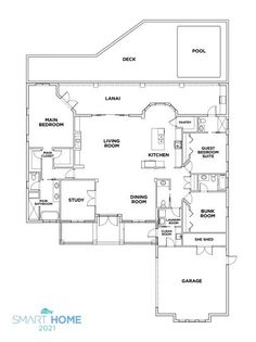 Discover the Floor Plan for HGTV Smart Home 2021
