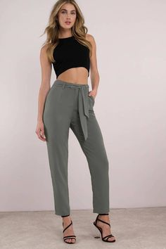 4c2acab8666358 Be a trendsetter in the Nobody s Business Tapered Pants. Featuring a high  waist with a