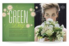 ★ DESIGN ARMY – Washingtonian Bride & Groom: Green Day (Editorial Design and Art Direction) © Design Army LLC
