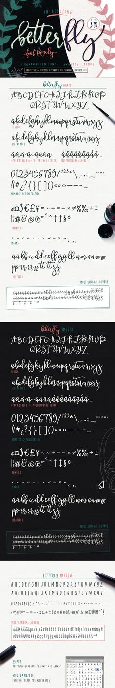 BetterFly - font family (OFFER $18) by Blessed Print on Creative Market
