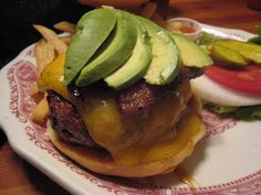 The Hitching Post II Oak Grilled Burger w/ Bacon & Avocado at The Hitching Post II in Buellton, CA only available at the bar Mon-Wed.