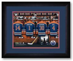 Edmonton Oilers NHL Personalized Locker Room Print - Sports Fans Plus  - 2