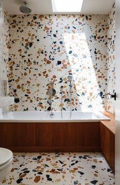 terrazzo bathroom walls. / sfgirlbybay