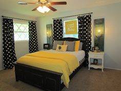There's No Place Like Home: Yellow and Black Bedroom