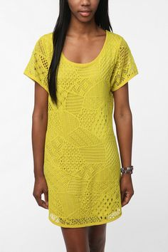 PRESENT: Ecote Patchwork Crochet Dress from Urban Outfitters. Pretty and subtle patchwork! (Urban Outfitters, 2012)
