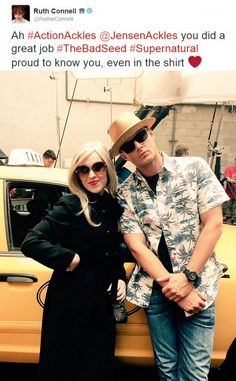Ruth and director Jensen bts 11x03 The Bad Seed