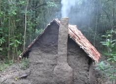 This is an interesting video showing how to build a wattle and daub hut with a wood fire place heater and chimney. When it comes to surviving in the bush i