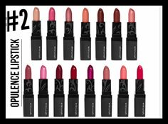 Our #2 best-selling product is our Opulence lipstick! Here are 4 fun facts about it: It is designed with crushed ruby gemstones!  It glides on like satin without tugging or pulling! It provides all-day wear that won't feather or bleed! It comes in 15 gorgeous shades!   Which one is your fave?!  www.jensgorgeouslashes.com