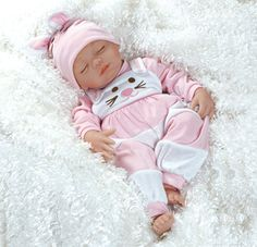 """Lifelike baby doll.  Weighted body for a """"real"""" baby feel!  There is a 7 pound doll at our local nursing home. The residents seem to think it is a real baby.  I wonder if this one would do that too."""