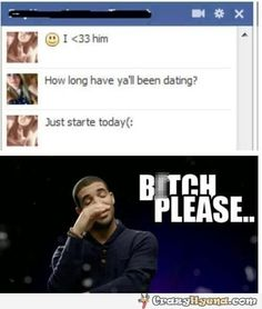 Two girls having a conversation in Facebook. One of them is crazy in love with a guy who she just started dating today