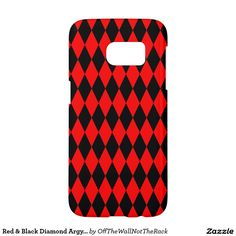 Red & Black Diamond Argyle Checkers Samsung Galaxy S7 Case