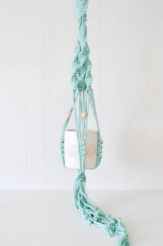 Macrame Plant Hanger - Mint by Koromiko
