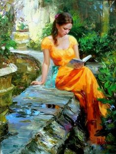 Vladimir Volegov reading painting is shipped worldwide,including stretched canvas and framed art.This Vladimir Volegov reading painting is available at custom size.