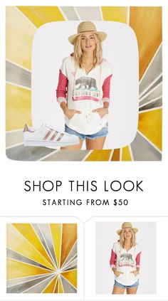"""California Girl"" by cant-find-a-username ❤ liked on Polyvore featuring Intelligent Design, Billabong and adidas Originals"