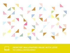 Watercolour Triangles by Yao Cheng; The imperfections in this wallpaper make it feels organic