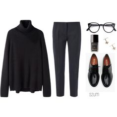 A fashion look from September 2014 featuring Hope sweaters, Acne Studios pants and Brixton oxfords.