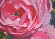 "Daily Paintworks - ""Bee Butt"" - Original Fine Art for Sale - © Carol Marine"