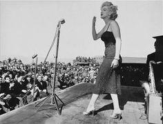 Marilyn entertaining the troops in Korea, February 1954