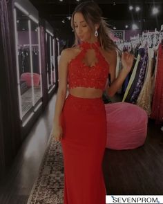 Red Prom Dresses Two Piece Prom - Red prom dresses two piece , rote ballkleider zweiteilig , robes de bal rouges de - Red Prom Dress Sparkly, Short Red Prom Dresses, African Prom Dresses, Strapless Prom Dresses, Mermaid Prom Dresses, Prom Dresses Two Piece, Prom Dresses With Sleeves, Cute Dresses For Party, The Dress