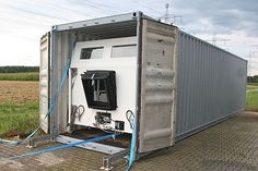 Unimog Overland Camper in a Shipping Container! Post it abroad and fly out to it...