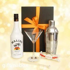 Online shop for Malibu liquor gift hampers. Alcohol liquor rum gift delivered to Cape Town, Pretoria, Midrand etc, South Africa Cocktail Glass, Cocktail Shaker, Ferrero Rocher Coconut, Coconut Truffles, South African Wine, Malibu Rum, Wine And Liquor, Refreshing Cocktails, Hampers