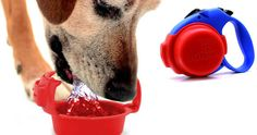 The Ruff Bowlis a portable bowl that can be used to water and walk your dog.