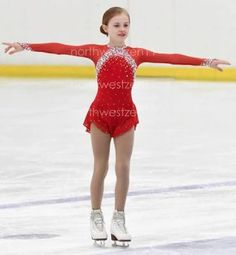 figure skating red dress - Buscar con Google