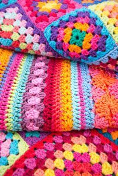Crochet, cotton blankets.
