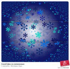 Синий фон со снежинками © Astronira / Фотобанк Лори