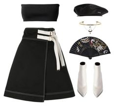 """""""Leverage"""" by oh-aurora ❤ liked on Polyvore featuring Balenciaga, Marni, kangol, Eddie Borgo and Givenchy"""