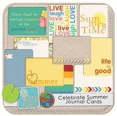 The Lilypad offers a large selection of pocket digital scrapbooking items. See our wide selection of journal cards and embellishments for pocket scrapping. Many are offered as printables for hybrid layouts as well. Printable Art, Printables, Summer Journal, Journal Cards, Summer Of Love, Project Life, Digital Scrapbooking, Life Is Good, Bullet Journal