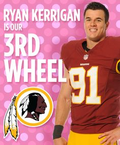 Please pick me!! I just got to see the Skins in person for the first time last year. And Ryan Kerrigan is my favorite player by far!! I just entered the Washington Redskins Valentine's Day Pin-to-Win Contest.