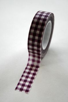 Washi Tape 15mm Deep Purple Gingham Check Deco By InTheClear
