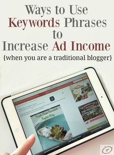 As traditional bloggers we don't have to use keywords entirely for SEO, we have more options including using multiple keyword phrases and Using Keywords to Increase Ad Income.