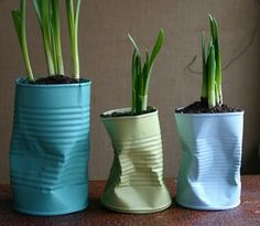 31. Dented Planters | From Drab To Fab: 48 DIYs For Average Tin Cans