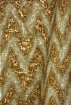 Wool Felt - Dyed  Werino wool  Woven shibori resist, felted, dyed  By Catherina Ellis