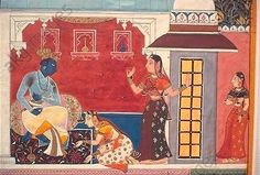 Take on you, Krishna (detail). Illustration to the Rasikapriya, Gouache on paper, Rajasthan, 1640, Udaipur, Government Museum