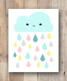 Kawaii Cloud Printable For Nursery And Kids Room - $4
