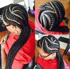 thick cornrows easy to do cornrow braided hairstyle to try out Tree Braids, Big Braids, Cool Braids, Girls Braids, Ghana Braids Hairstyles, African Hairstyles, Girl Hairstyles, Braided Hairstyles, Black Girl Braids